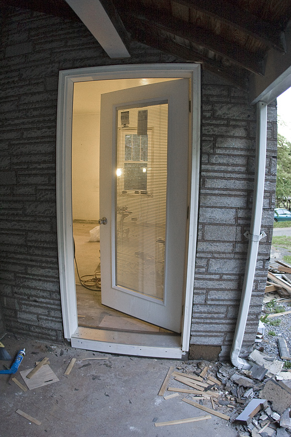 The new door in place