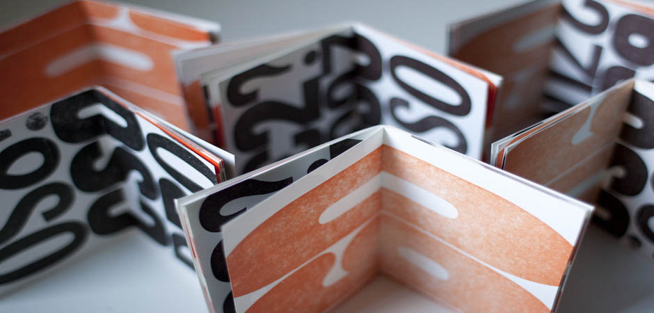 Letterpress typographic booklets