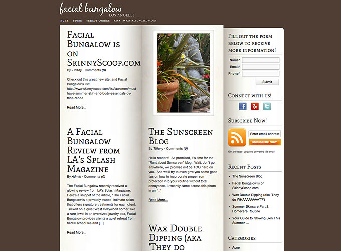 Facial Bungalow
